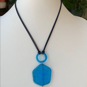 Art Glass pendant necklace